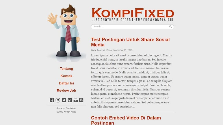 Premium Blogger Template Kompi Fixed
