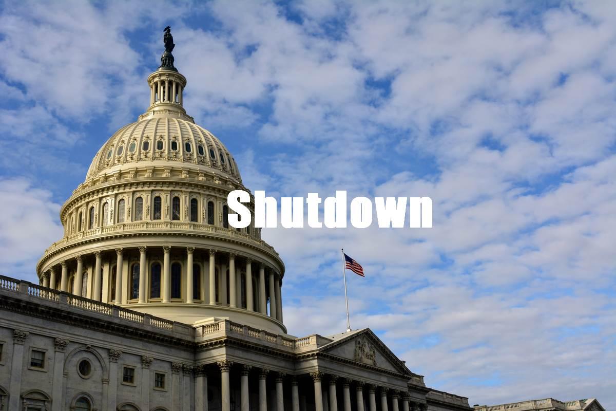 Photo capitole Washington pendant le Shutdown