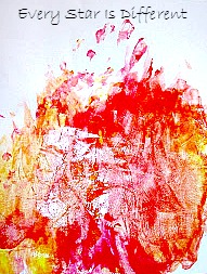 Fire finger painting sample.