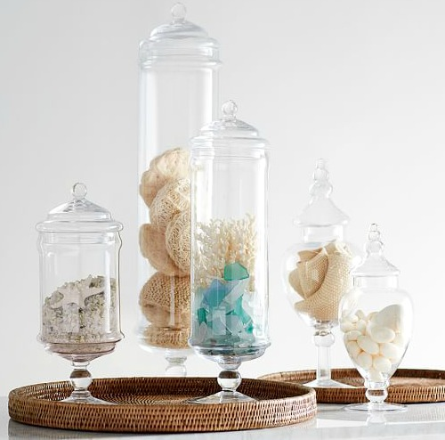 Apothecary Jars for Coastal Decor