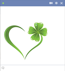 Facebook heart with clover