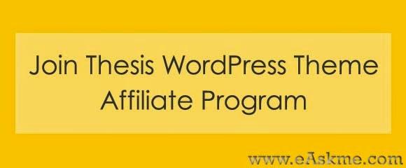 Thesis theme affiliate program