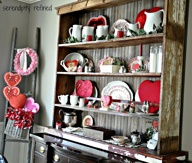 Serendipity refined blog vintage valentine 39 s day dining - Valentine day room decoration ...