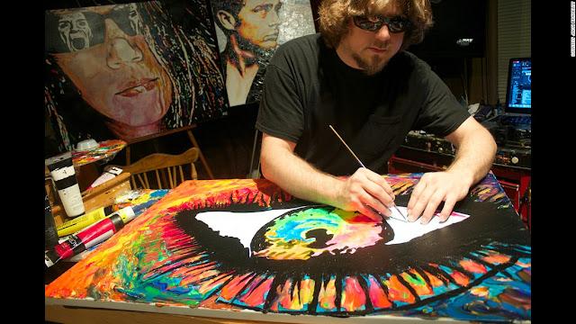 O talentoso pintor cego que nunca enxergou nenhuma de suas obras