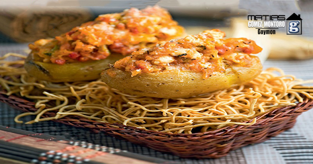 Patatas rellenas de Pollo