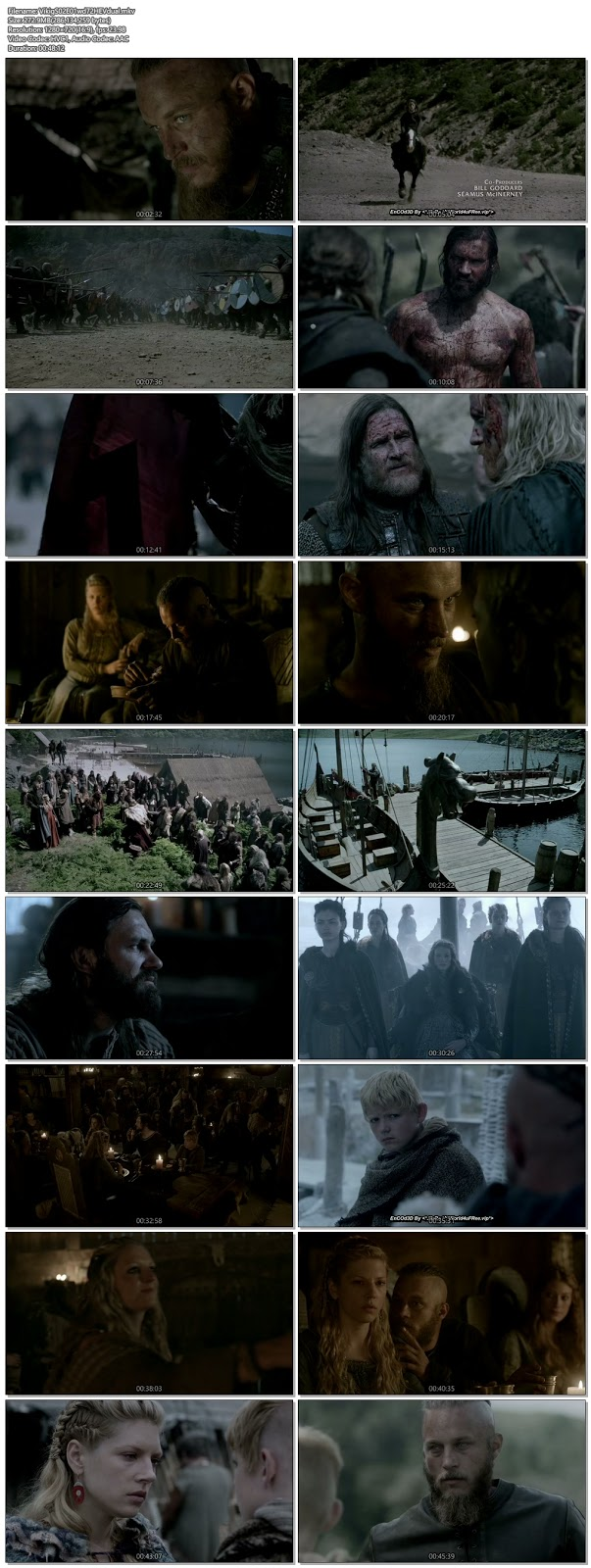 Screenshots Of Hindi Dubbed Show Vikings 2014 Season 02 Episode 01 300MB 720P HD