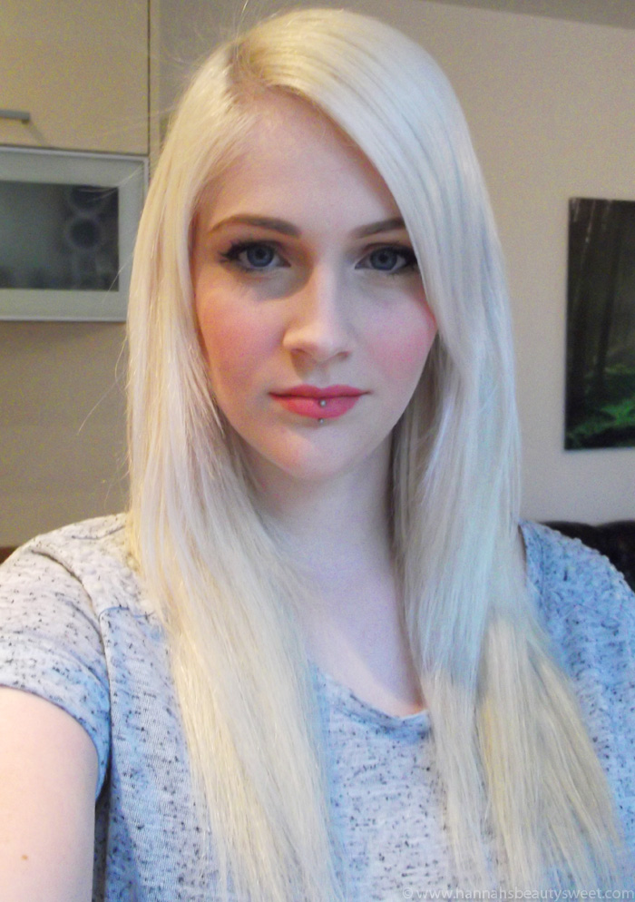 Hannah's Beauty Sweet: Review: Bleach Blonde Halo Hair ...