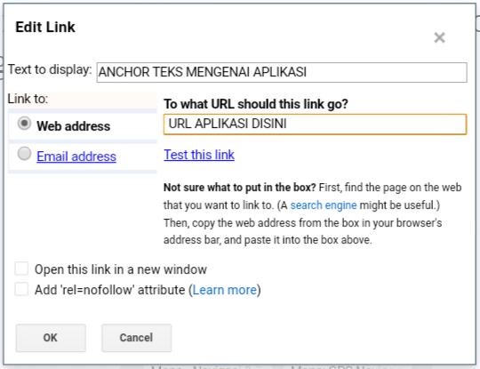 Cara Menemukani URL Aplikasi di google Play Store Untuk Membuat tautan di Blog