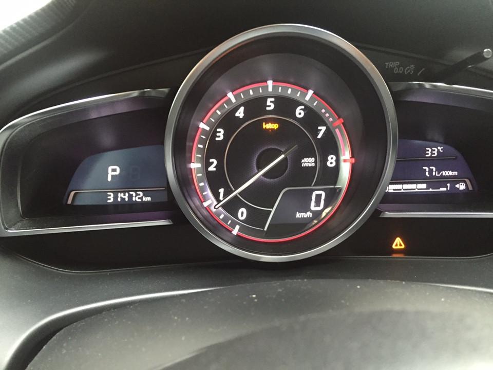 Đèn tam giác chấm than trên xe Mazda| Đèn i-stop nhấp nháy| Đèn tam giác trên xe Mazda