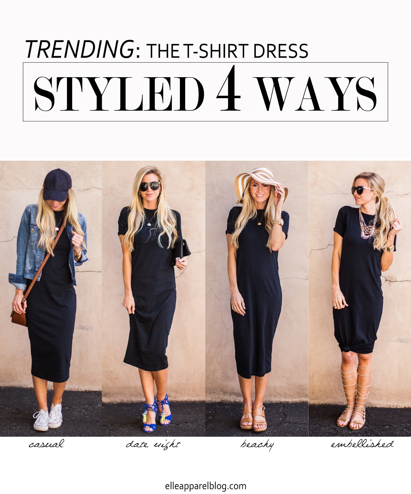 The Top Trend Series Four Ways To Style A T Shirt Dress Elle