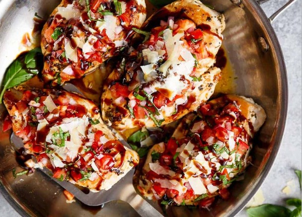 Italian Herb Bruschetta Chicken #Herb #healthy