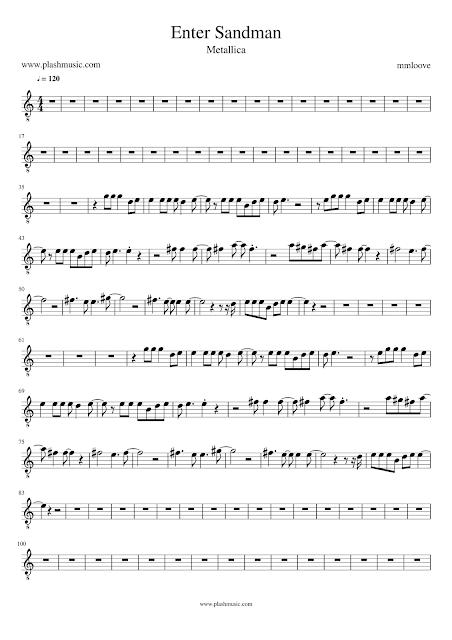 Enter Sandman by Metallica sheet music
