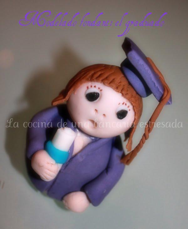 Modelado de muñeco graduado con fondant