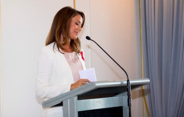 Princess Marie attends AIDS Fondet's fundraiser event