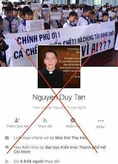 Nguyễn Duy Tân không xứng đáng mặc áo Linh Mục