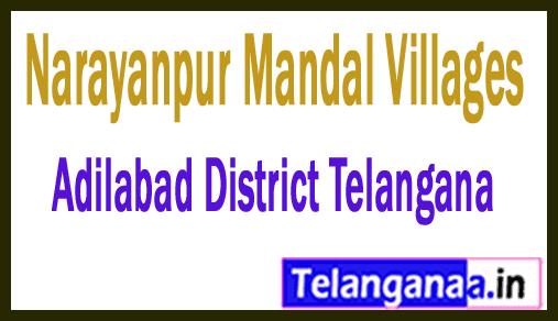Narayanpur Mandal and Villages in Adilabad District Telangana