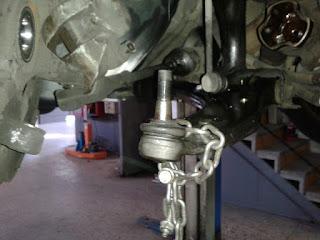 Cambio de rotula suspension, cambio de rotula