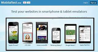melihat tampilan blog versi mobile