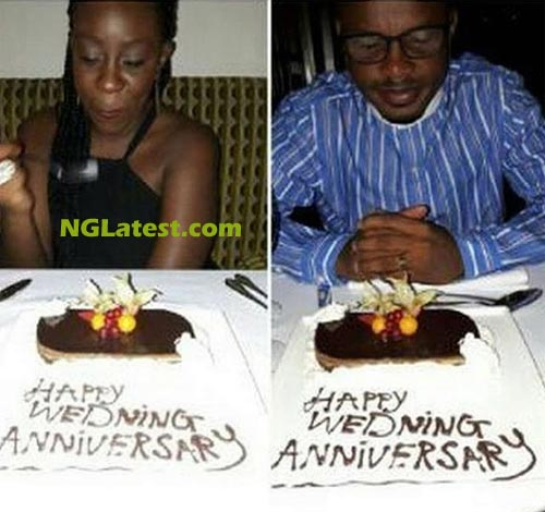 Can you spot what is wrong with this wedding anniversary photo?