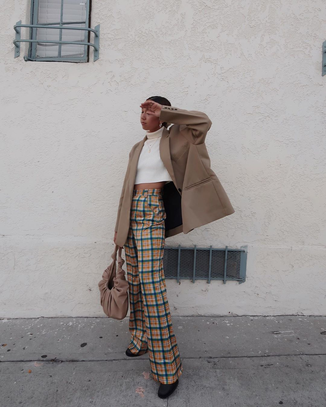 All of the Playful Plaid Trousers We Want This Season