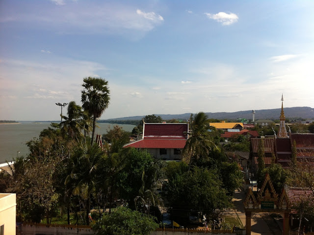 View over Mukdahan in Thailand