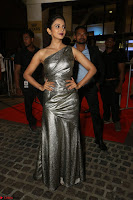 Rakul Preet Singh in Shining Glittering Golden Half Shoulder Gown at 64th Jio Filmfare Awards South ~  Exclusive 036.JPG