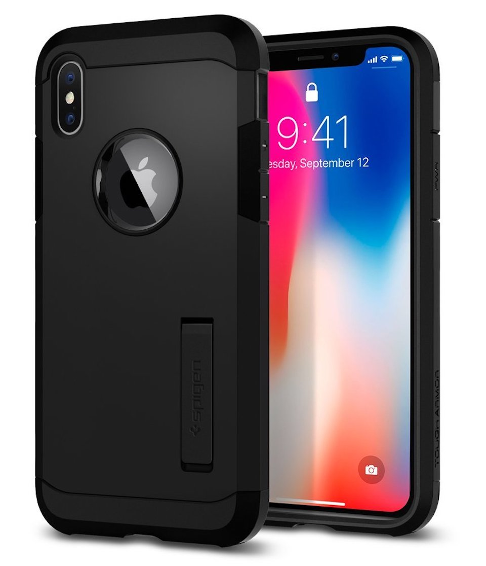 Custodia per iPhone X Spigen Tough Armor