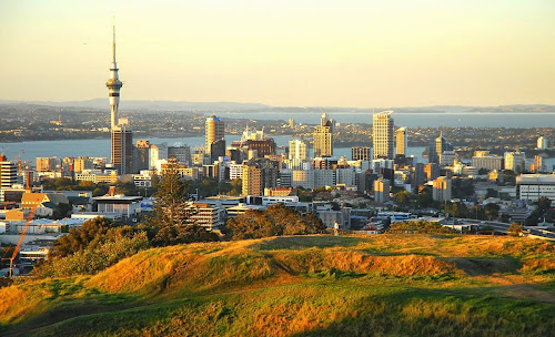 Auckland city from Mount Eden - New Zealand