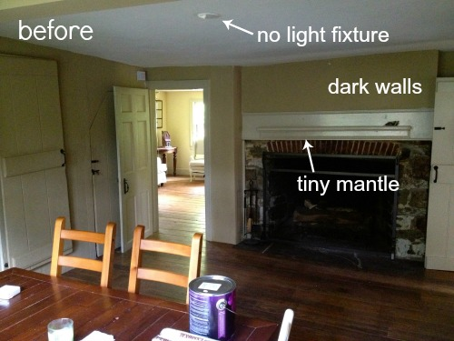 saltbox farmhouse dining room before