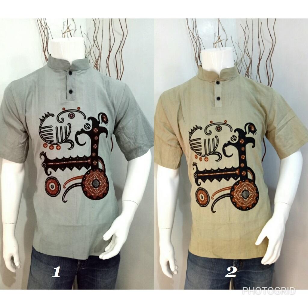 Contoh Model Baju Batik 2018 Kemeja Batik Kombinasi Pria Baju Koko 12494bfcd9