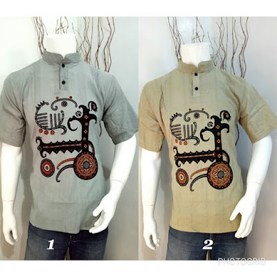 Baju Batik Koko Etnic kode A