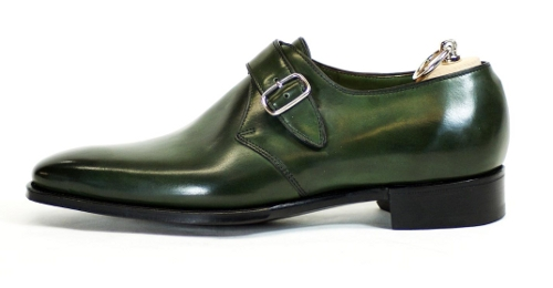 aea9f2354e1 From the Handgrade range how about the handsome Warwick monk? The green  calfskin is beautiful. You don't see a lot of shoes in that colour.