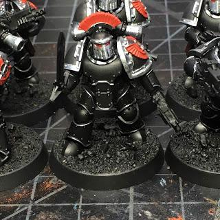 Heresy Era Legion I Dark Angels Tactical Squad Sergeant WIP mark III armor