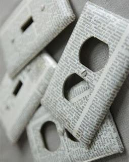 ubah tampilan stop kontak dengan koran