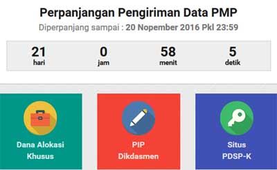 Perpanjangan Waktu Cut Off Pengisian Instrumen Aplikasi PMP Sampai 20 November 2016