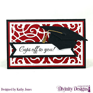 Divinity Designs Stamp Set: The Future, Custom Dies: Grad, Gift Card Holder, Pennant Flags, Double Stitched Pennant Flags