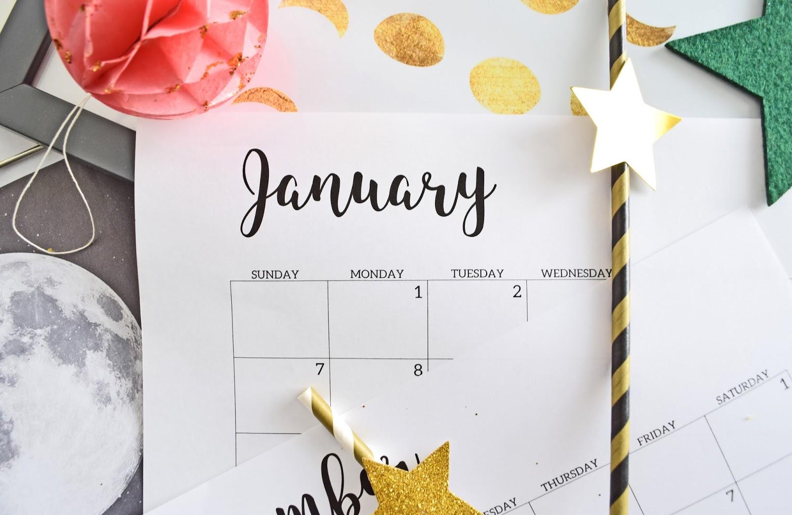 Noworoczny kalendarz
