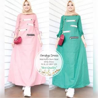 Jual Baju Busana Muslim Amaliya Dress