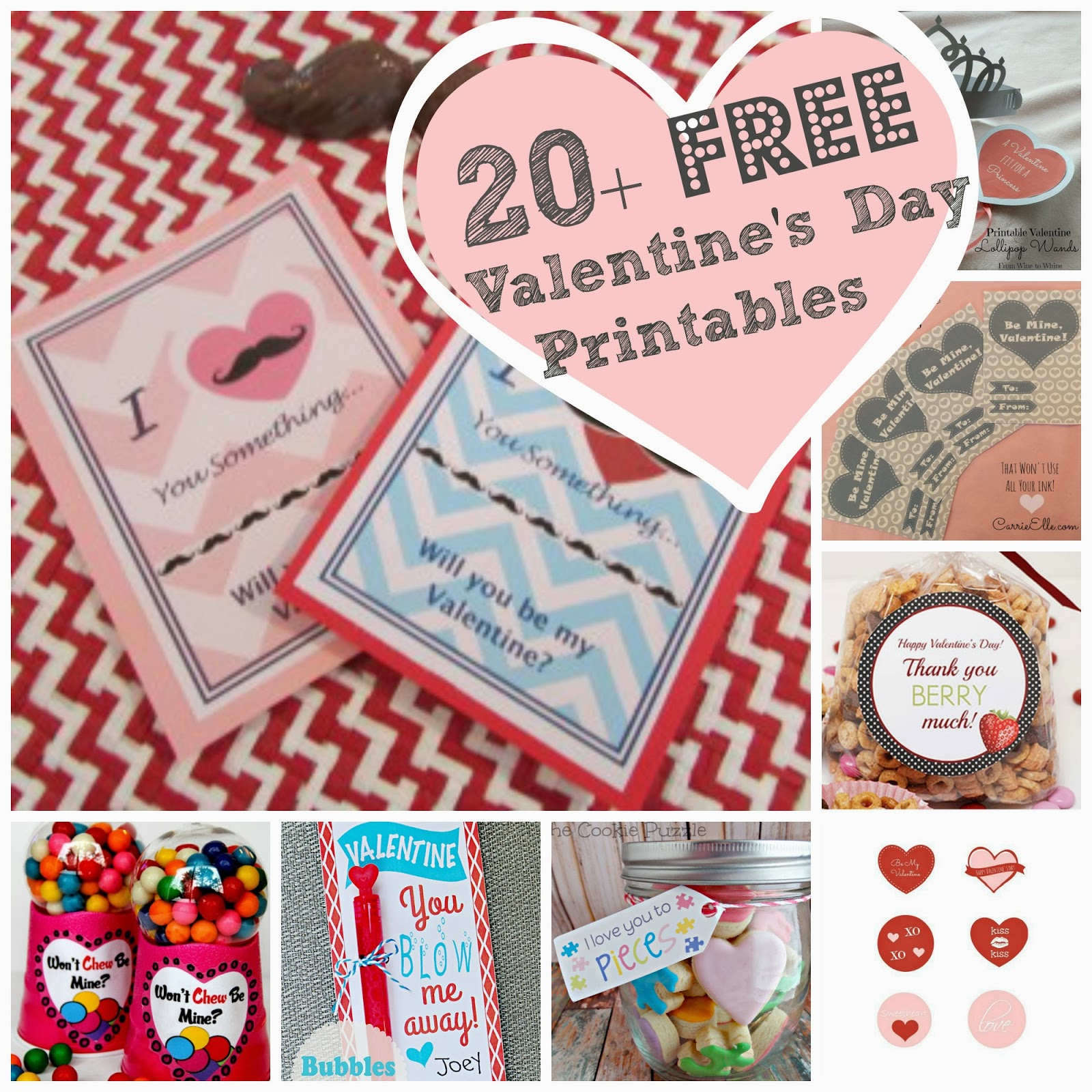 Just A Little Creativity Over 20 Of The Best Free Valentine S Day Printables