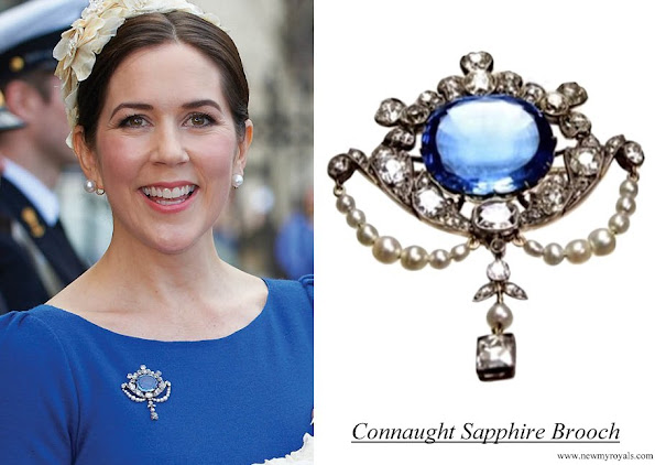 Crown Princess Mary Connaught Sapphire Brooch