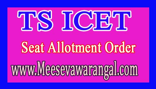 Telangana TS ICET Final Seat Allotment Order 2016