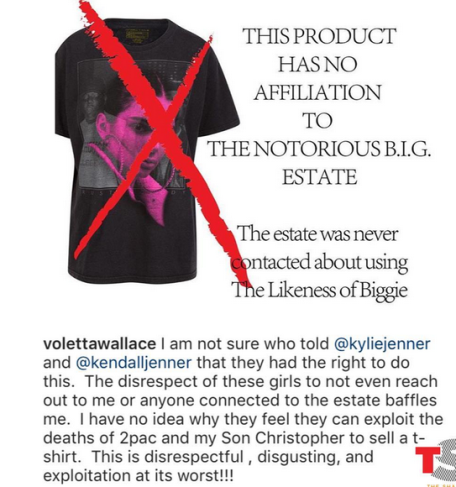 Notorious B.I.G's mom slams Kylie and Kendall Jenner's use of her son's image on their new T-Shirt line
