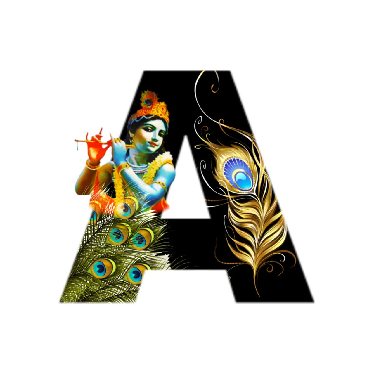 shree krishna alphabet a images