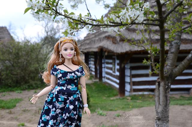 Floral dress for Barbie doll