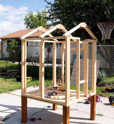 chicken coop framed