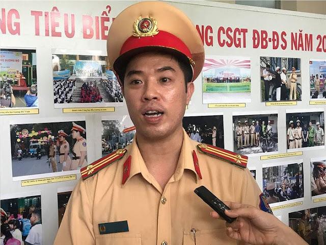 Trung tá Huỳnh Trung Phong cho biết, năm 2018 chỉ có 1 cán bộ CSGT sai phạm.