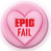 Epic Fail text on Love Heart sweet free image for texting