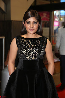Niveda Thomas Black Sleeveless Cute Dress at 64th Jio Filmfare Awards South 2017 ~  Exclusive 065.JPG