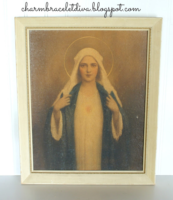 Vintage C. Bosseron Chambers Virgin Mary painting