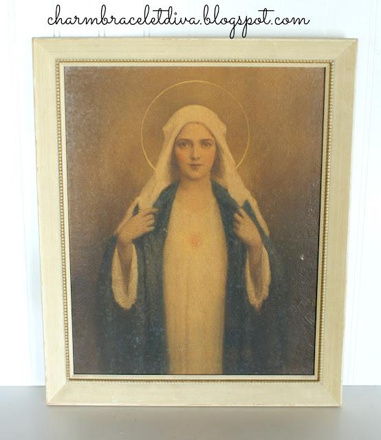 Vintage C. Bosseron Chambers Virgin Mary painting